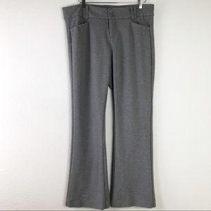 Torrid Studio Signature Premium Ponte Stretch Trouser Pants Heather Gray Size 16